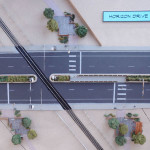 Photo of a model built to illustrate multimodal crossing