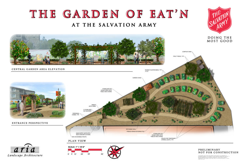rendering of Salvation Army's Garden of Eat'n