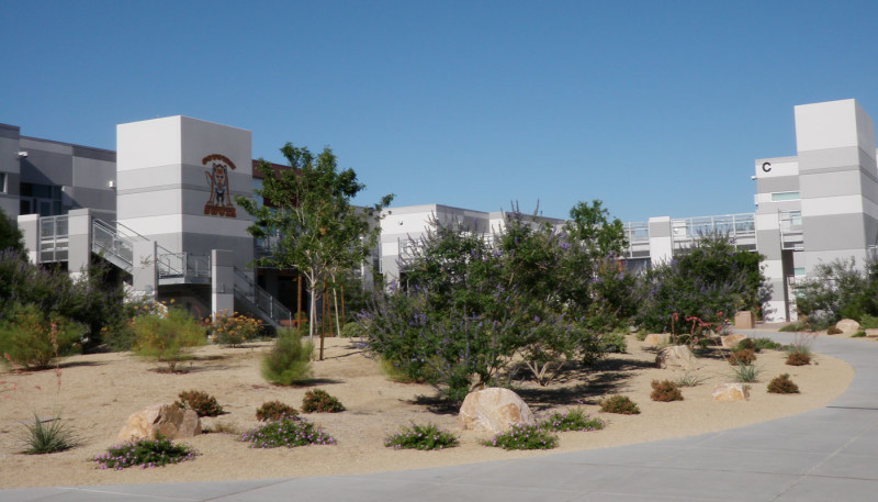 Landscape area at SW Career and Technical Academy
