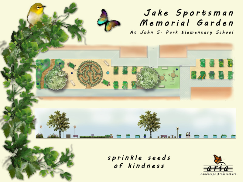rendering of the garden