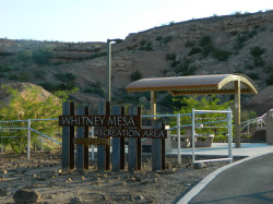 Signage for Whitney Mesa Recreation Area