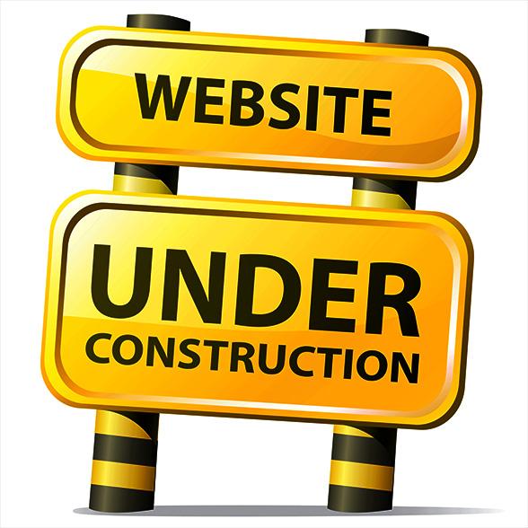 Image result for pardon our dust website reconstruction
